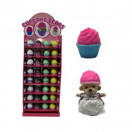 Мягкая игрушка серии Ароматные капкейки - МИЛЫЕ МЕДВЕЖАТА (96 видов в ассорт.,в напольном дисплее)