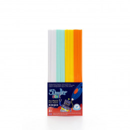 Набор стержней для 3D-ручки 3Doodler Start - МИКС (24 шт: белый, мятный, желтый, оранжевый), 3DS-ECO