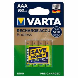 Аккумулятор Varta AAA Rechargeable Accu Endless 950mAh * 4 (56683101404) фото 1