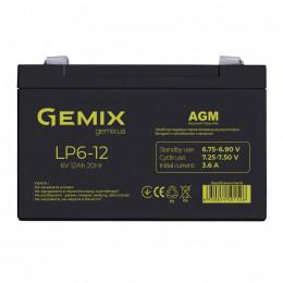 Батарея к ИБП Gemix 6В 12Ач (LP6-12) фото 1