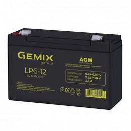 Батарея к ИБП Gemix 6В 12Ач (LP6-12) фото 2