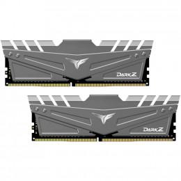Модуль памяти для компьютера DDR4 16GB (2x8GB) 3600 MHz T-Force Dark Z Gray Team (TDZGD416G3600HC18J фото 1