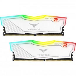 Модуль памяти для компьютера DDR4 16GB (2x8GB) 3600 MHz T-Force Delta White RGB Team (TF4D416G3600HC фото 1