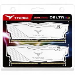 Модуль памяти для компьютера DDR4 16GB (2x8GB) 3600 MHz T-Force Delta White RGB Team (TF4D416G3600HC фото 2