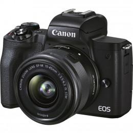 Цифровой фотоаппарат Canon EOS M50 Mk2 + 15-45 IS STM Kit Black (4728C043) фото 1