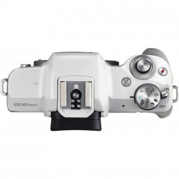 Цифровой фотоаппарат Canon EOS M50 Mk2 + 15-45 IS STM Kit White (4729C028) фото 2
