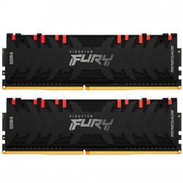 Модуль памяти для компьютера DDR4 16GB (2x8GB) 4266 MHz Renegade RGB Black HyperX (Kingston Fury) (K фото 1